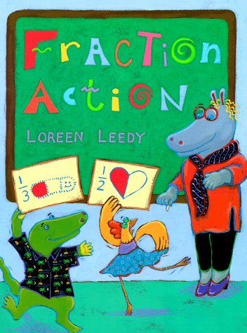 fraction action book for kids