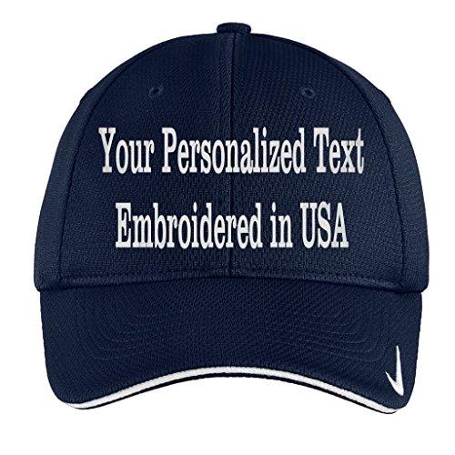 Flex Fit Sandwich Bill Cap (Personalized Embroidery On Nike Golf - Dri-Fit Cap. Mesh Swoosh Flex Sandwich. (Navy, L/XL (7 1/4-7 3/4)))