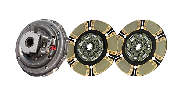 Single-Plate, Push-Type, 4-Paddle// 8-Spring, 2400 PL // 500 Torque, Incl. Release Bearing IATCO 107621-7-IAT 350mm x 1-1//2 Stamped Steel Clutch