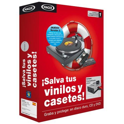 Magix ¡Salva tus vinilios y casetes! - Software de edición de audio/música (500 MB, 512 MB, 1 GHz, ESP, AAC, AIFF, FLAC,...