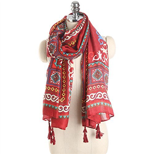 Onlineb2c Cotton Linen Long Scarf Wraps Pashmina Shawls Women Winter by Onlineb2c (Image #1)
