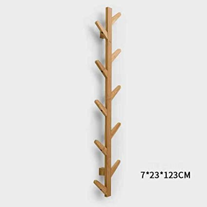 LANGMANZHUYI Perchero madera bambú,Arropa el estante,Gancho ...