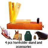 STRONG Ham stand set 4 Pcs serrano ham holder + ham knife + ham Cover + knife sharpener serrano jamonero