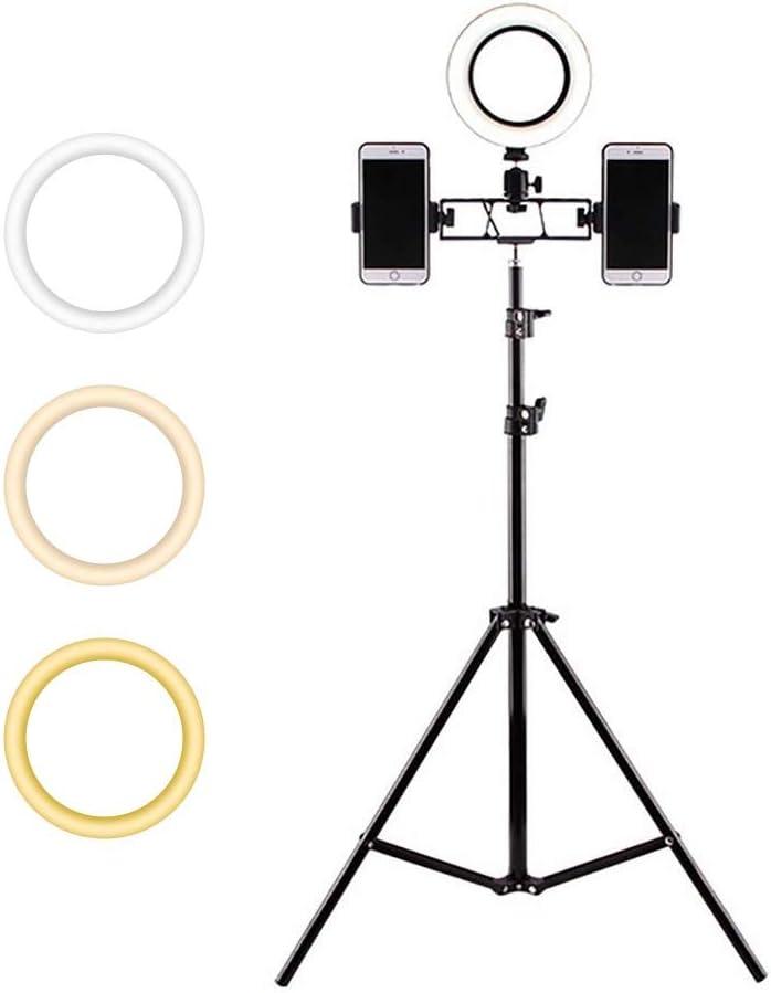 270/° Rotation ZFD Mini Ring Light Portable Makeup Light 6 // 8 //10 Optional for YouTube Vine Self-Portrait Video Photography,26cmlightring,b 3 Color Mode