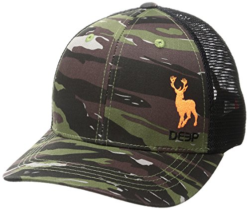 - Deep Ocean Stag Trucker Hat, Green Camo, One Size