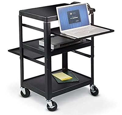 Balt Adj Laptop Cart, Black
