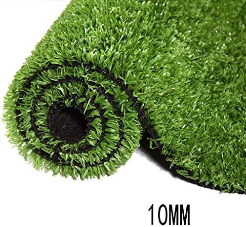 XEWNEG 人工芝合成芝生、10mmパイル高、暗号化されたシミュレーションカーペットペットマット、排水穴付き、屋内および屋外の景色(1mx2m) (Size : 2x6M)