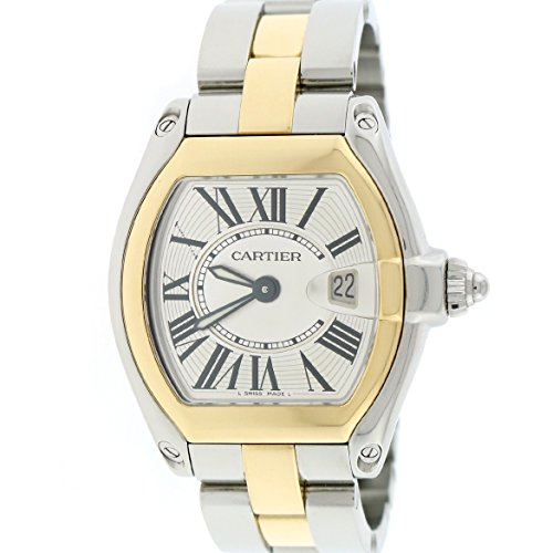 Cartier Roadster analog-quartz womens Watch W62026Y4 (Certified Pre-owned)