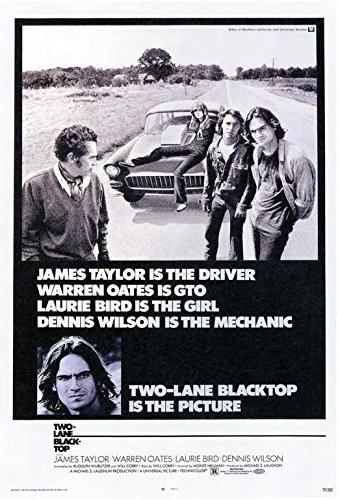 Two Lane Blacktop Poster Movie 11x17 James Taylor Dennis Wilson Warren Oates Laurie Bird MasterPoster Print, 11x17