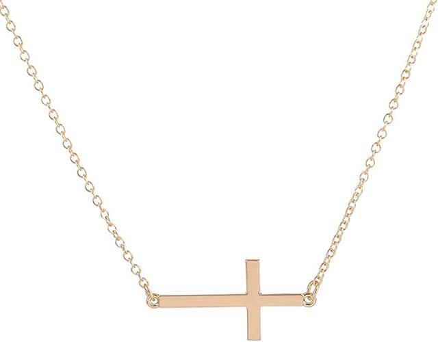 Amazon Com Choa Silver Jesus Cross Pendant Necklace Short