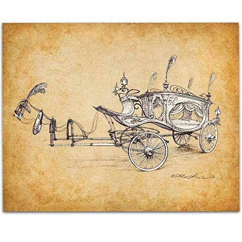 Haunted Mansion Movie Hearse Concept Drawing - 11x14 Unframed Patent Print - Great Gift for Disney Fans Under $15 ()