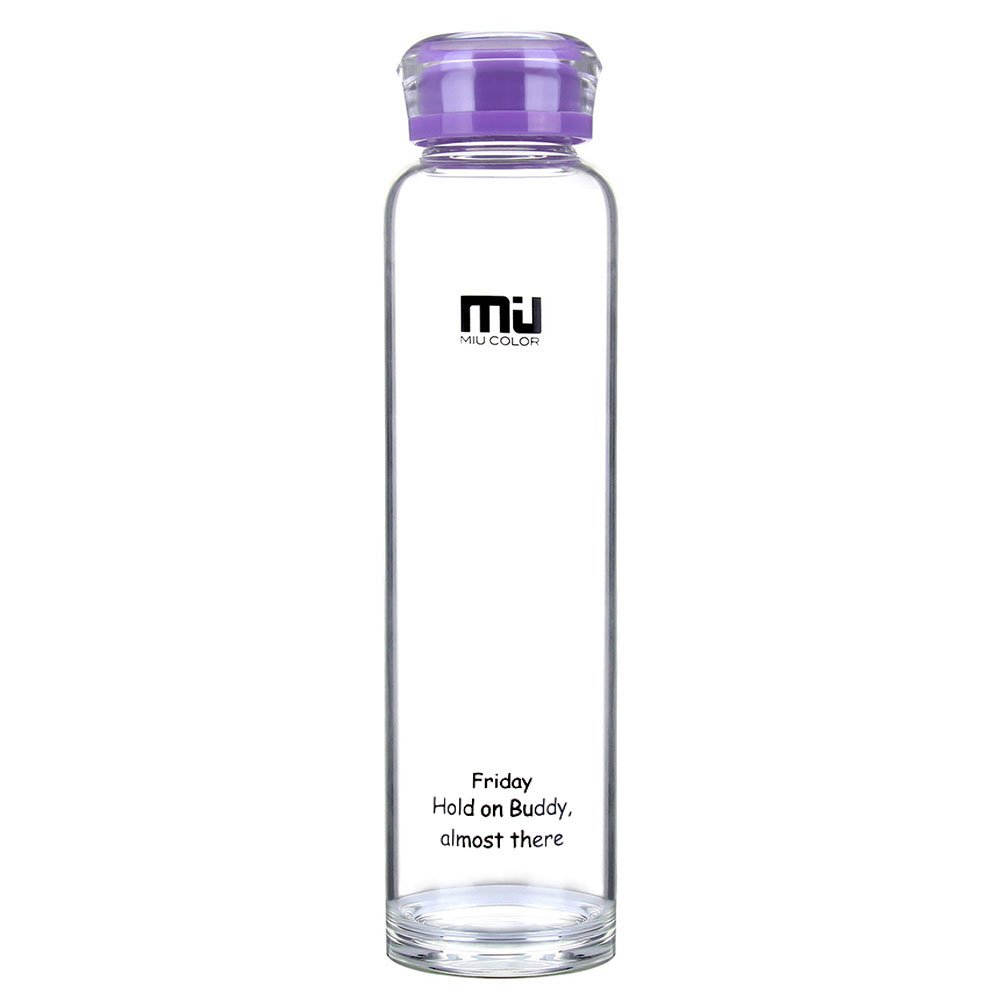Botella de vidrio de frutas ecológica de 480 ml, de bisfenol A, policloruro de vinilo, plástico y sin plomo de MIU COLOR., Noble Violet: Amazon.es: Deportes ...