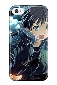 New LyplCYU10378LEiqh Anime Sword Art Online Kirigaya Kazuto Skin Case Cover Shatterproof Case For Iphone 4/4s
