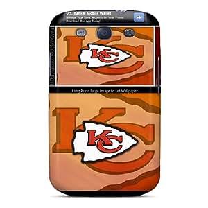 Samsung Galaxy S3 Dvm10055qOnt Customized Beautiful Kansas City Chiefs Pattern High Quality Hard Phone Cases -SherriFakhry