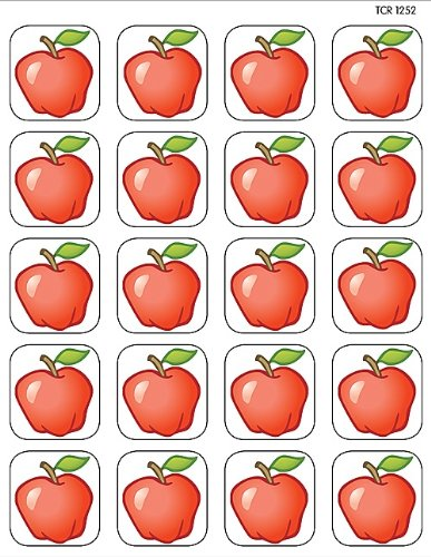 Teacher Created Resources Apples Stickers, Multi Color (1252)