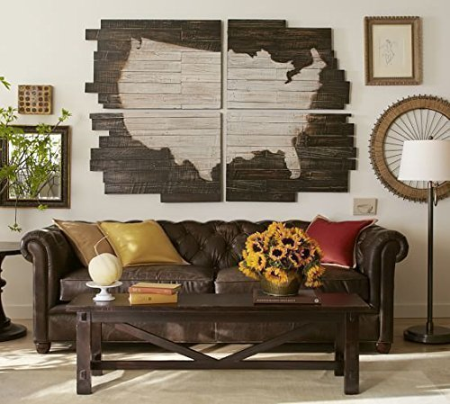 Planked USA Wall Art Panels - Wood Planked US Map by Wood Cabin Engraving Co.