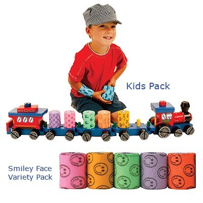 Andover 081142520 Co-Flex Variety Pack, Smiley Face, Box of 36, 2'', Shape,, ()