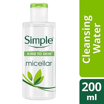 Simple Kind Piel Micelar Limpiadora de agua - 200 ml: Amazon ...