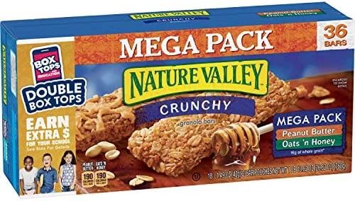 Nature Valley Granola Bars, Crunchy, Mega Pack de ...