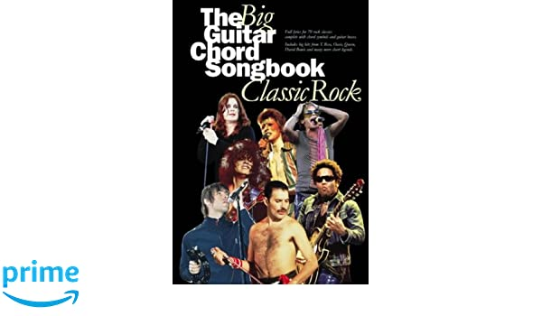 The Big Guitar Chord Songbook Classic Rock Amazon Divers