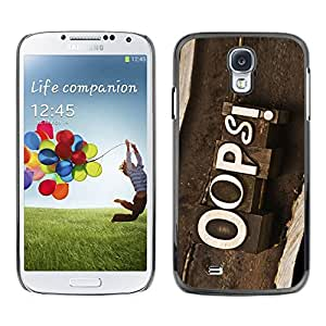 PC/Aluminum Funda Carcasa protectora para Samsung Galaxy S4 I9500 Oops Vintage Sign / JUSTGO PHONE PROTECTOR