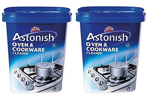 (Astonish Oven & Cookware Cleaner 2 pack - Double Pack Of 500g Astonish Heavy Duty And Non Toxic Grime Cleanser)