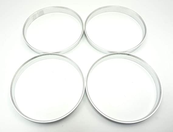 4 Zentrierringe Aus Alu Aluminium In Silber 74 1 Mm 72 6 Mm Auto