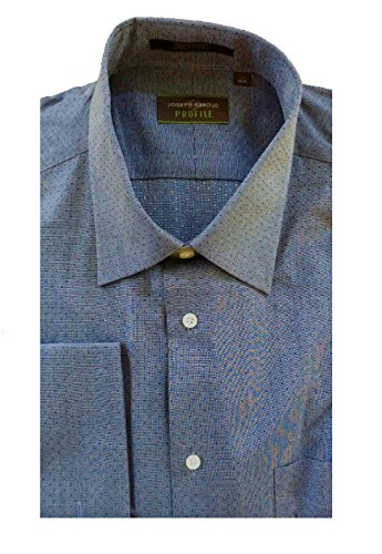 Joseph Abboud Profile Mens Button Front Dress Shirt in Navy Pin Dot, 15.5 32/33