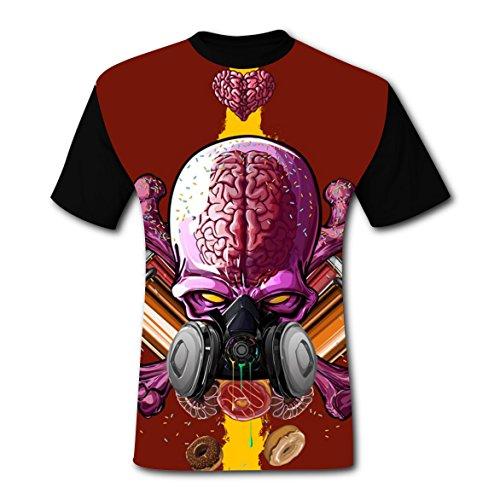 Most Popular Brain Monster Mens Tee T-shirt 3D Prints Costume (Gas Mask Costume Breaking Bad)