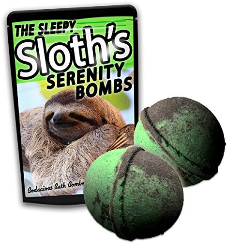 Price comparison product image Sleepy Sloth's Serenity Bombs XL Bath Balls Cool Bath Fizzers for Kids Stocking Stuffers for Teens Novelty Sloth Gags for Friends Weird White Elephant Ideas Unisex Secret Santa