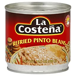 La Costena Refried Pinto Beans, 14.1-Ounce (Pack of 12)