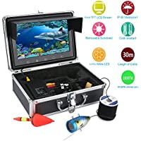 MAOTEWANG 9 Inch TFT Color Monitor 30M 1000tvl Underwater Fishing Video Camera Kit 12 PCS LED Lights