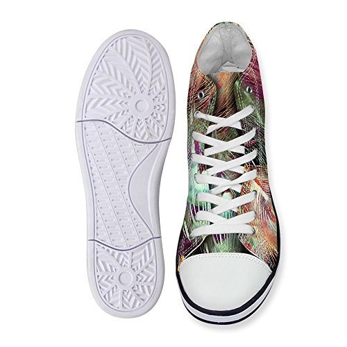 Voor U Ontwerpt Coole Hoge Top Heren Heren Canvas Mode Sneakers Lace Up Multi