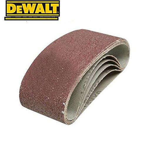 Dewalt Sanding Belts, 100 x 610mm, Grit Size 80, Pack QTY 10 DT3672-QZ