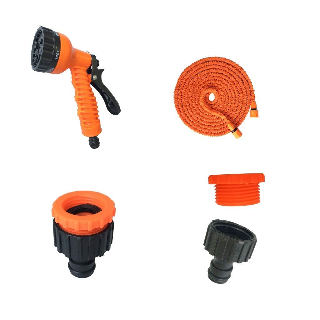 37.5m SS Faucet Telescopic Water Pipe, Magic Water Pipe, Multifunctional, High Pressure Car Wash Water Pipe, Home, Garden, Tool Set, orange (Size   37.5m)