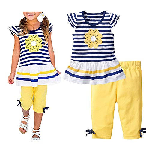 C&M Wodro Baby Girl Summer Casual Clothing Suit