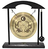 Zen Table Gong Dragon with Taiji Symbols Feng Shui Meditation Desk Bell Home Decor Housewarming Congratulatory Blessing Gift US Seller