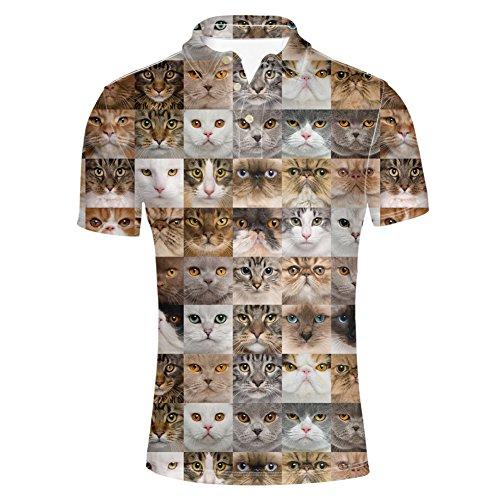 HUGS IDEA Cool Mens Short Sleevee Pique Polos Shirt