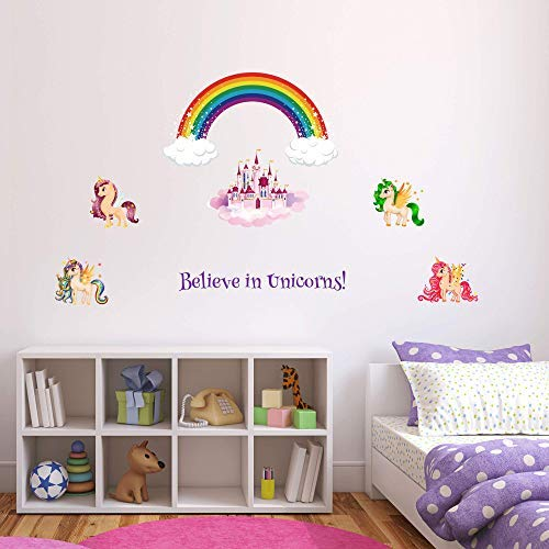Forbua Color Changing Unicorn Light, Comforts Kids While Sleeping! Magical LED Unicorn Night Light Brightens Up Your Room, Includes 7 Unicorn Wall Art Stickers - Ideal Gift for Girls, Women, Birthdays