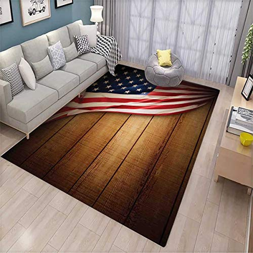 American Flag Extra Large Area Rug United States Design on a