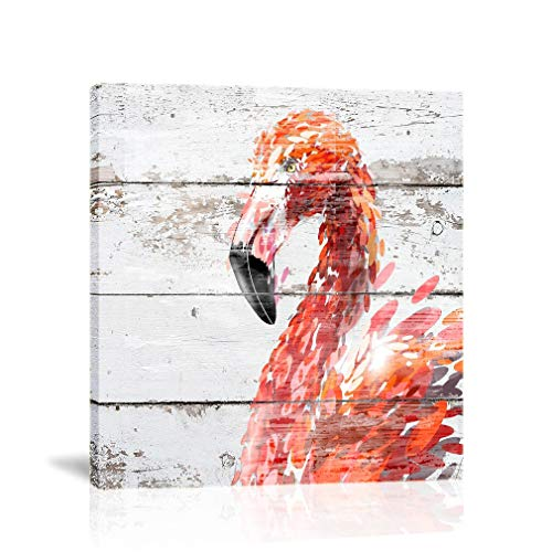 K-Road Flamingo Canvas Wall Art Painting Animal Picture Frame Bathroom Poster