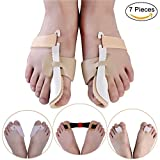 Bunion Corrector & Bunion Relief Protector Sleeves Kit - Treat Pain in Hallux Valgus, Big Toe Joint, Hammer Toe, Toe Separators Spacers Straighteners splint Aid surgery treatment-7 Pieces