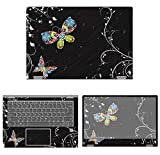 decalrus - Protective Decal Butterfly Skin Sticker for Lenovo Flex 6 (14'' Screen) case Cover wrap LEflex6_14-3