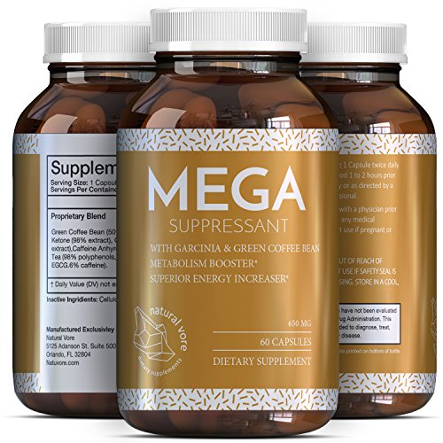 Garcinia Cambogia with Green Coffee Bean Extract Raspberry Ketones Weight Loss Pills with Pure Fat Burner Metabolism Boost A Natural Appetite Suppressant Carb Block for Women and Men by Natural Vore