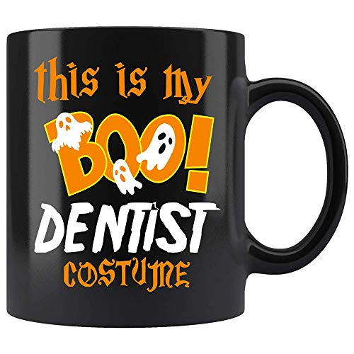 Coffee Mug This Is My Boo Dentist Costume Halloween Funny Coffee Mug Ceramic (Black, 11 OZ)]()