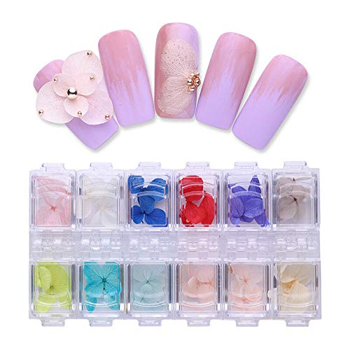 - Mixed 3D Dry Flowers Nail Art Decoration Preserved Flower Nail Stickers Decals (Colour - #2)