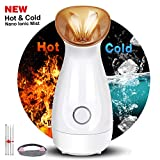 CXhome Home Facial Steamer Hot and Cold Nano Ionic Mist for Woman Home Spa Facial, Steamer for Face Humidifier for Moisturizing Deep Cleaning Pores Acne Blackheads