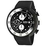 red line Men's 50038-BB-01-WBBZ Driver Chronograph Black Dial Black Silicone Watch, Watch Central