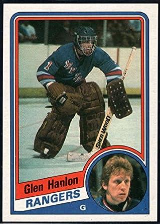 Amazon.com  Hockey NHL 1984-85 Topps  106 Glen Hanlon NY Rangers ... c48827ed1