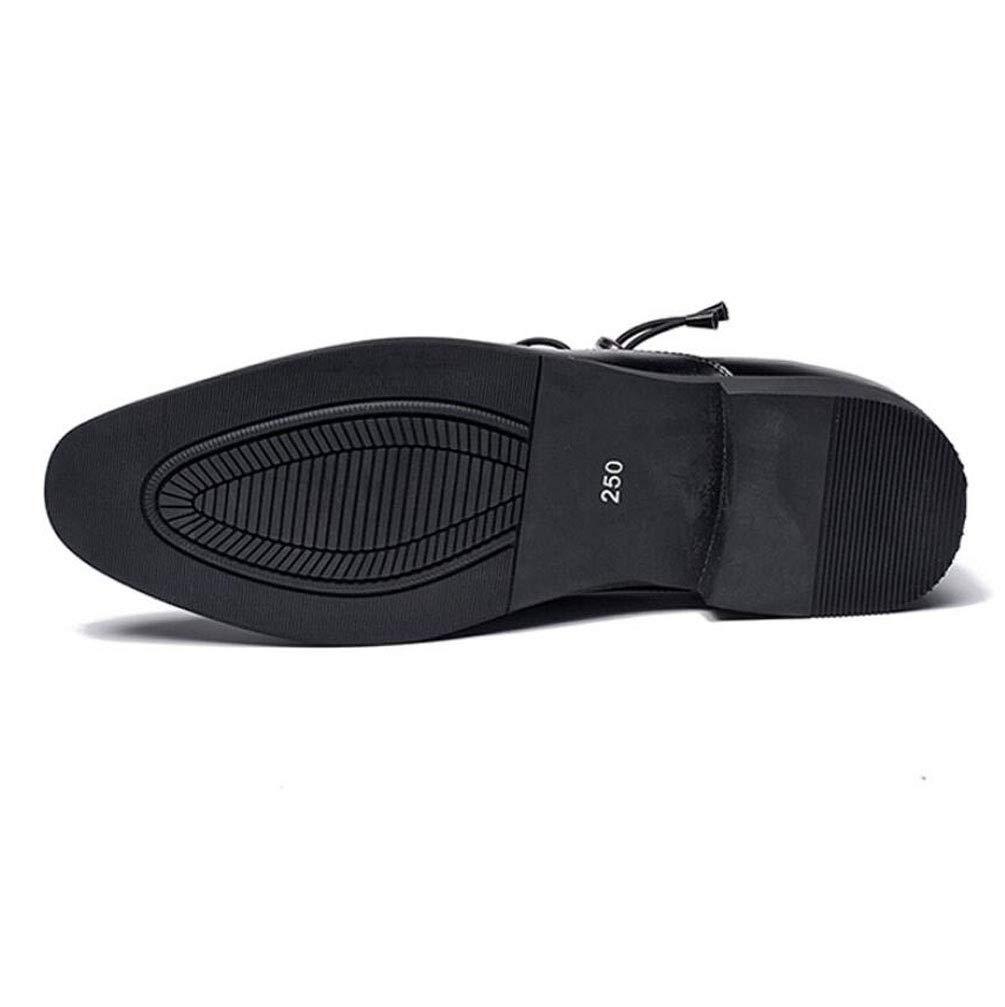 ZFAFN Hombre Negocio Negocio Negocio Zapatos Formal Cuero Zapatos, Boda Calzado Apuntado Cordones Zapatos Cremallera/Zapatos Casuales/Zapatos Derby, 38, Negro a28d92